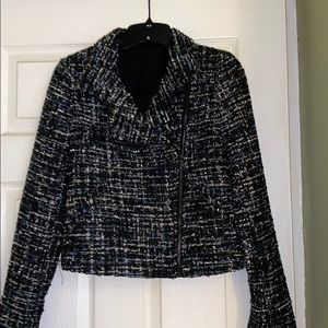Express Tweed Moto Jacket